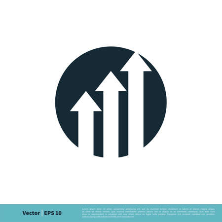 Arrow Stock Exchange Logo Template Illustration Design.