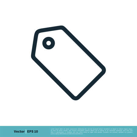 Price Tag Icon Vector Logo Template Illustration Design.