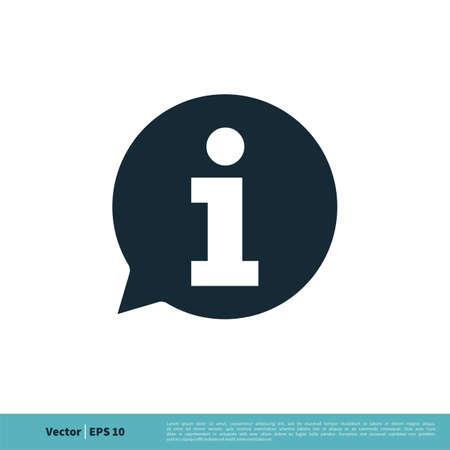 Information Sign Icon Vector Logo Template Illustration Design.