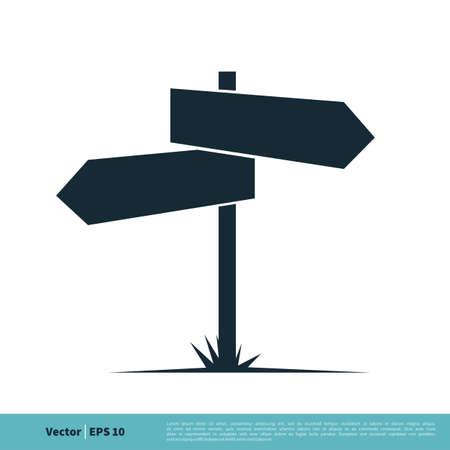Signboard Icon Vector Logo Template Illustration Design. Vector