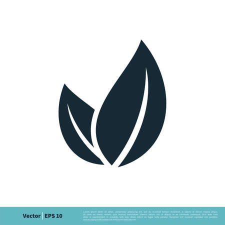 Ecology Icon Leaves Vector Logo Template Illustration Design.