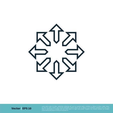 Compass Rose / Ornamental Arrow Icon Vector Logo Template Illustration Design.