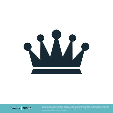 Crown of the King / Queen Icon Vector Logo Template Illustration Design. Illustration