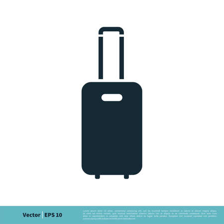 Baggage Icon Vector Logo Template Illustration Design.