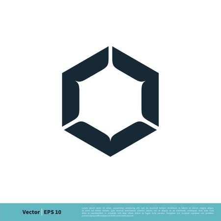 Hexagon Shape Icon Vector Logo Template Illustration Design.