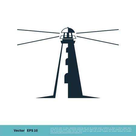 Lighthouse Icon Vector Logo Template Illustration Design.