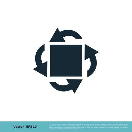 Circle Arrows Icon Vector Logo Template Illustration Design. Illustration