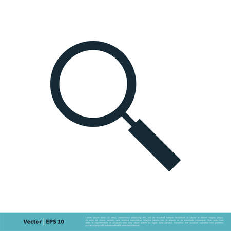 Magnifying Glass Icon Vector Logo Template Illustration Design.