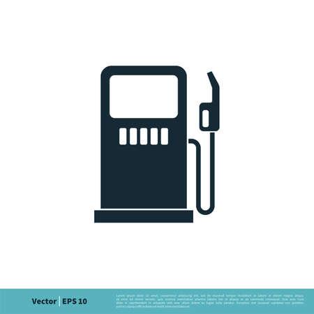 Gas Station Icon Logo Template Illustration Design.