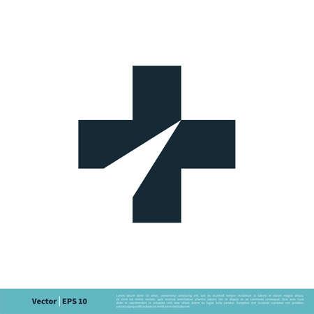 Cross / Plus Icon Vector Logo Template Illustration Design.