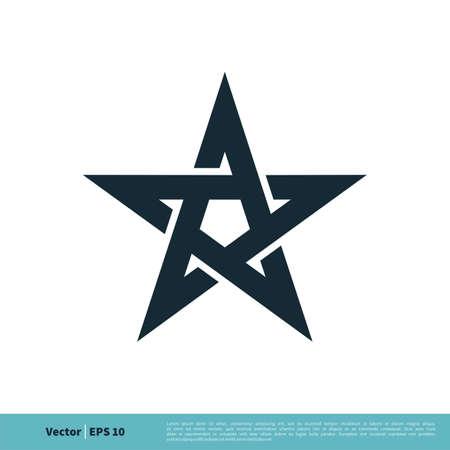 Star / Pentagonal Icon Vector Logo Template Illustration Design.