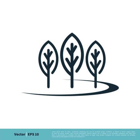 Eco Green Leaf / Tree Icon Vector Logo Template Illustration Design. Illustration
