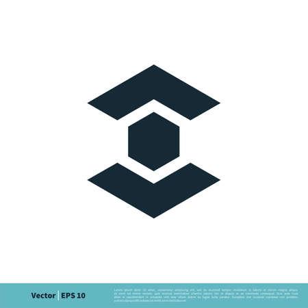 Abstract Hexagon Arrow Icon Vector Logo Template Illustration Design.