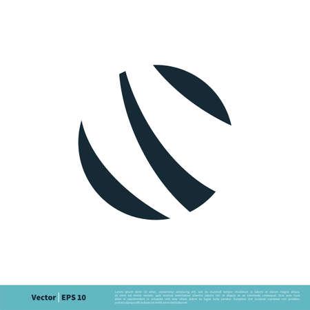 Circle Ball / Earth, Globe Icon Vector Logo Template Illustration Design. Illustration