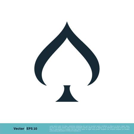 Spade of Poker Card Icon Vector Logo Template Illustration Design. Illustration