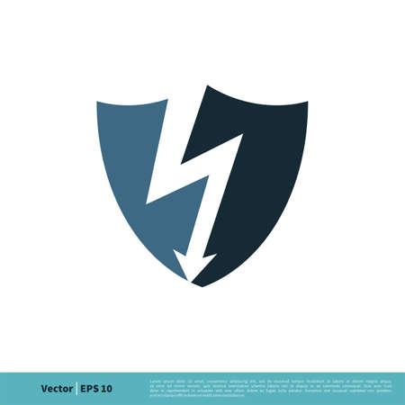 Thunderbolt Icon Vector Logo Template Illustration Design.