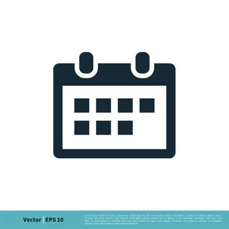 Calendar Icon Vector Logo Template Illustration Design.