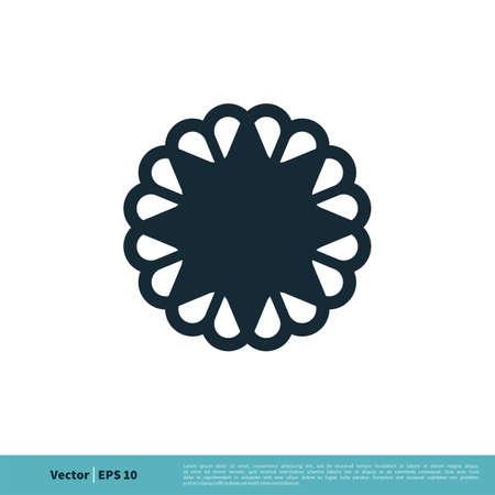 Abstract Flower Ornamental Icon Vector Logo Template Illustration Design.