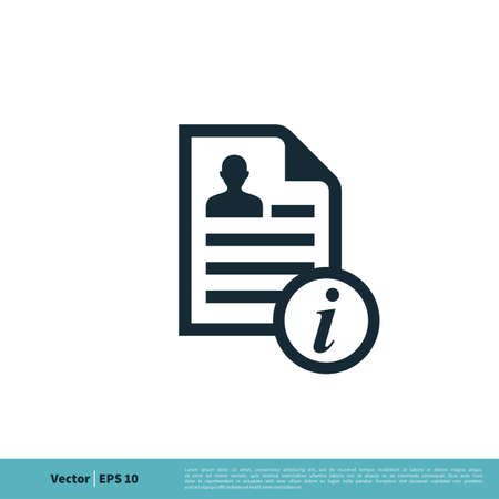 Information and Paper Document Human Shape Vector Logo Template Illustration Design. Illustration