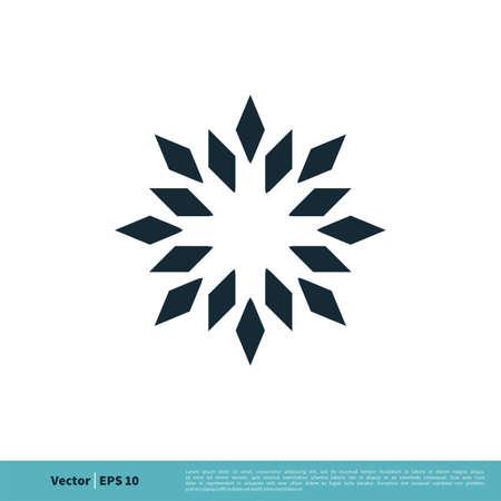 Abstract Star Ornamental Icon Vector Logo Template Illustration Design. Illustration