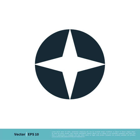 Star in Circle Icon Vector Logo Template Illustration Design. Illustration
