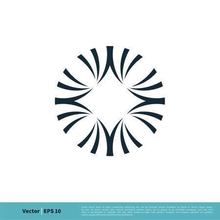 Flower Ornamental Decorative Icon Vector Logo Template Illustration Design. Illustration
