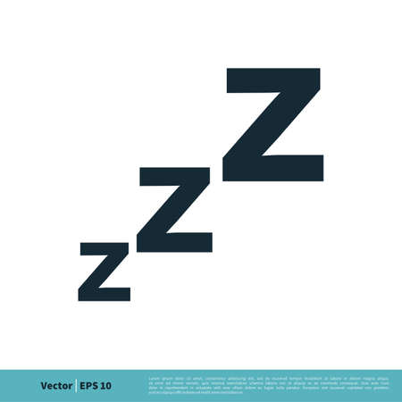 Sleep Icon Vector Logo Template Illustration Design.