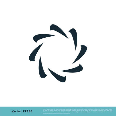 Abstract Star Flower Icon Vector Logo Template Illustration Design.