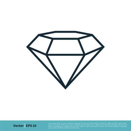 Diamond Icon Vector Logo Template Illustration Design.