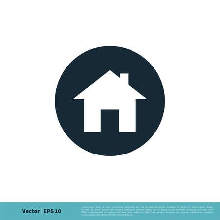 Home / House Icon Vector Logo Template Illustration Design.