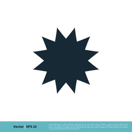 Blank Star Frame Icon Vector Logo Template Illustration Design.