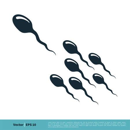 Sperm / Spermatozoa Icon Vector Logo Template Illustration Design.