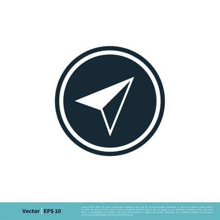 Compass Icon Vector Logo Template Illustration Design.