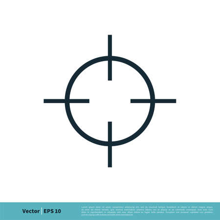 Aiming Target Icon Vector Logo Template Illustration Design. Vector EPS 10.