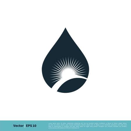 Drop Water Icon Vector Logo Template Illustration Design. Vector EPS 10.