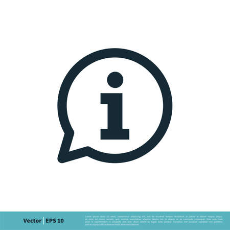 Information Sign Icon Vector Logo Template Illustration Design. Vector EPS 10.