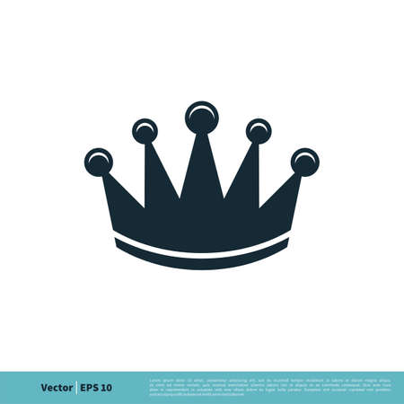 Crown of the King / Queen Icon Vector Logo Template Illustration Design. Vector EPS 10.