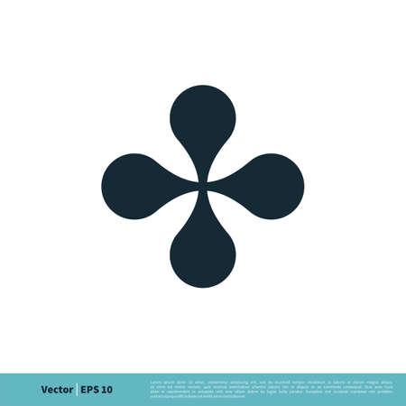 Four Leaf Cross Icon Vector Logo Template Illustration Design. Vector EPS 10.