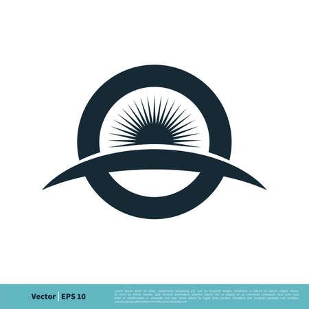 Circle and Sun / Eye Ball Icon Vector Logo Template Illustration Design. Vector EPS 10.