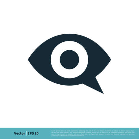 Eye Ball View Icon Vector Logo Template Illustration Design. Vector EPS 10.