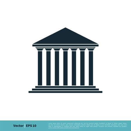 Public Building Icon Vector Logo Template Illustration Design. Vector EPS 10. Stock Illustratie