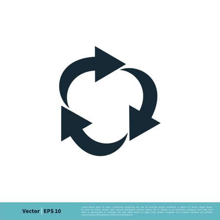 Circle Arrows Icon Vector Logo Template Illustration Design. Vector EPS 10. Ilustrace
