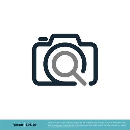Camera Icon Vector Logo Template Illustration Design. Vector EPS 10.