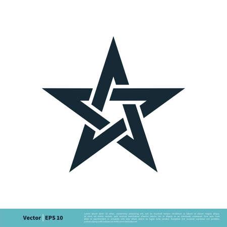 Star / Pentagonal Icon Vector Logo Template Illustration Design. Vector EPS 10.