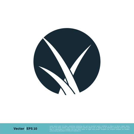 Grass Plant Icon Vector Logo Template Illustration Design. Vector EPS 10. Banco de Imagens - 150521531