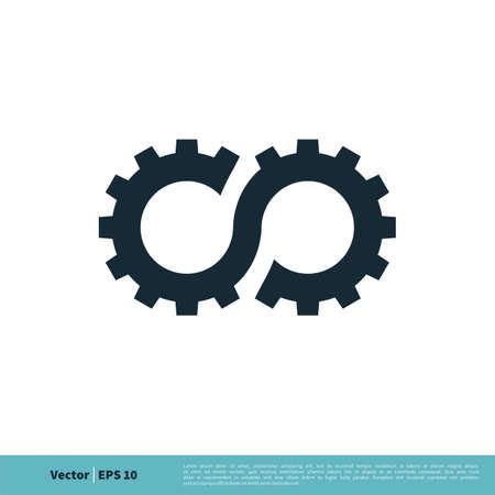 Gear Infinity Icon Vector Logo Template Illustration Design. Vector EPS 10.