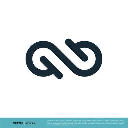 Infinity, Infinite, Endless Symbol Icon Vector Logo Template Illustration Design. Vector EPS 10.  イラスト・ベクター素材