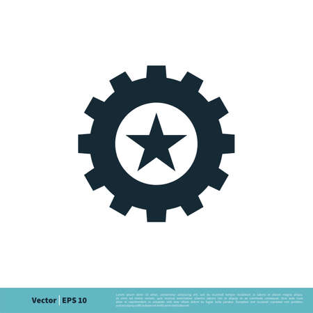 Gear Star Icon Vector Logo Template Illustration Design. Vector EPS 10. Logos