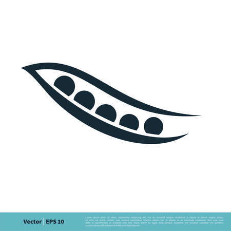 Pea Pod Icon Vector Logo Template Illustration Design. Vector EPS 10.