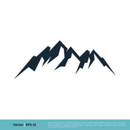 Rock Mountain Icon Vector Logo Template Illustration Design. Vector EPS 10. Stock Illustratie